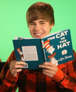 Justin Bieber es otro ejemplo de joven que abandonó la lectura.